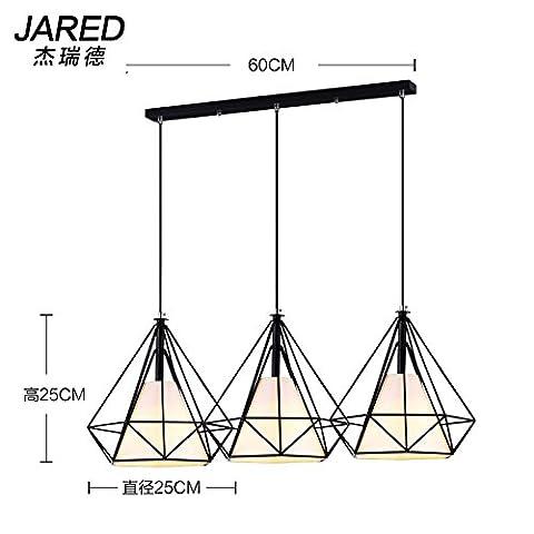 KFLPNUAmerican loft cafe diamond lampe cage fer lustres creative bar