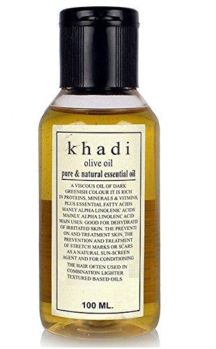 Khadi, extra virgin olive oilOlive Oil, 100ml Made in India Fully Ayurvedic natural and Herbal by Khadi khazana