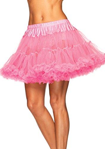 LEG AVENUE 8990X - Petticoat rosa Kostüm Damen Karneval, Übergroße (EUR 46-50)