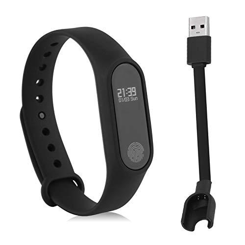 Aleseae Smart Armbanduhr Tragbare Pulsuhr Wasserbeständigkeit Fitness Schrittzähler Multifunktionale Sport Armband (schwarz)