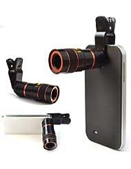 ZQ 8x 18negro Universal 8x foto telescopio microscopio/lente para el teléfono 4S/5/5C/6/6Plus/iPad/iPad Mini, negro