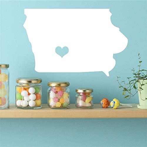 Wandaufkleber Kinderzimmer Iowa State Vinyl Wall Decal - Karte Silhouette Vinyl Wanddekoration Mit Herz Für Wohnzimmer Schlafzimmer Kinderzimmer Kinderzimmer -