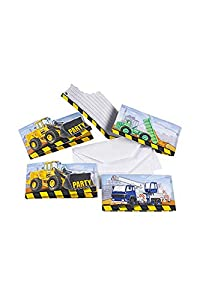 Amscan-998330-8tarjetas de invitación y sobres construcción
