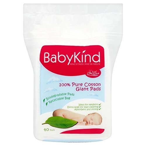 Babykind Giant Cotton Pads 40 per pack by BabyKind