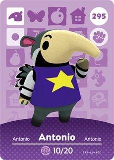 Antonio - Nintendo Animal Crossing Happy Home Designer Amiibo Card - 295 by Nintendo