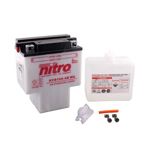 Batterie 12V 16AH HYB16A-AB Blei-Säure HC Nitro 51622 VT 1100 C2 Shadow ACE SC32 95-00 -