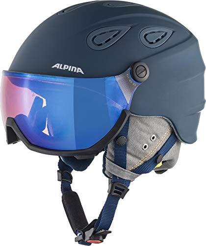 Alpina Unisex- Erwachsene GRAP Visor 2.0 HM Ski- und Snowboardhelm, Ink-Grey matt, 57-61 cm