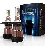 Aolead Lampadine H4 LED 10800LM Auto Fari Sostituzione per Alogena e Xenon Luci, CSP Super Luminosa Lampada 6000K - 2 Anni Garanzia