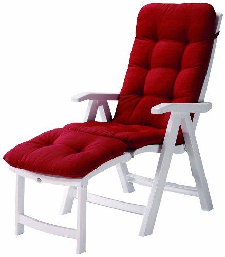 Best 96336104 Florida Chaise Longue avec Coussin Blanc