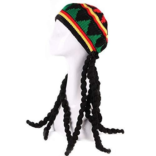 Rastafarian Knitted Braid Hat