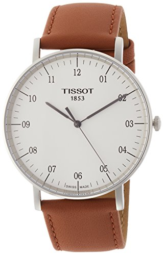 Tissot Herren-Armbanduhr Armband Leder Schweizer Quarz Analog T1096101603700