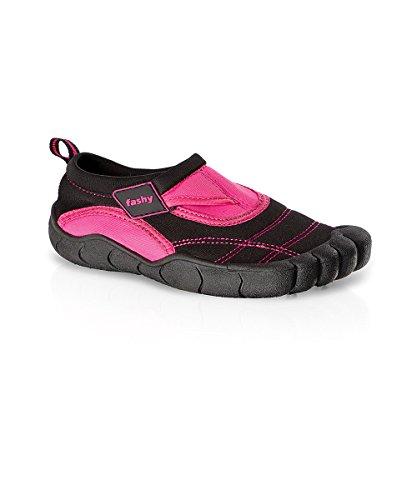 7491 Fashy Kinder Aqua-Schuh Lagos m. Klettveschluss, Farbe pink, schwarz, Größe 28