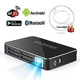 Link Co Proyector inalámbrico Inteligente Soporte Bluetooth 4.0 Batería de Capacidad incorporada para múltiples propósitos domésticos y Exteriores
