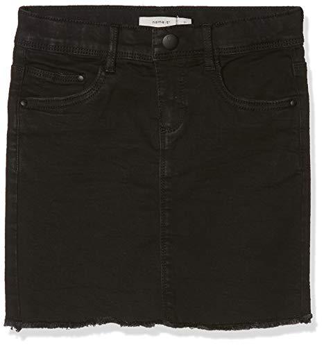 NAME IT Mädchen Rock NKFBILURA DNM 7083 Skirt NOOS, Schwarz (Black Denim), (Herstellergröße: 152) (Schwarz Mädchen Rock)