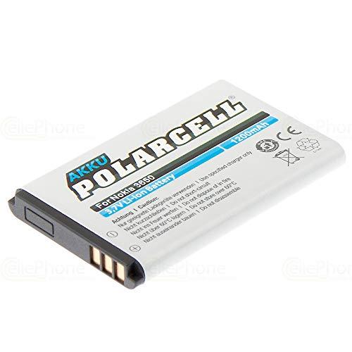 cellePhone PolarCell Akku Li-Ion kompatibel mit Nokia 3650 6030 6085 6230 6600 6620 6630 6670 6680 7600 7610 E50 E60 (Ersatz für BL-5C / BL-5CA)