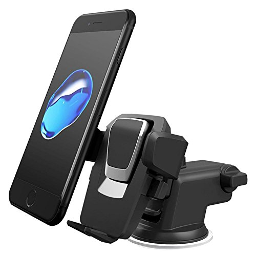 X-Auto Halterung Car,Anker Armaturenbrett und Windschutzscheibe Car Mount, 360 Grad Telefonhalter mit ausziehbarem Arm Ipod-dashboard Mount