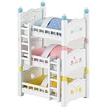 Sylvanian Families  - 4448 -  Lits Superposés à 3 Couchettes Bébés  -  Poupées et Accessoires