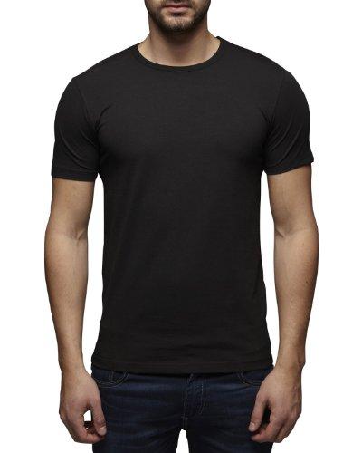 JACK & JONES Herren T-Shirt 12058529 Basic O-Neck Tee Schwarz