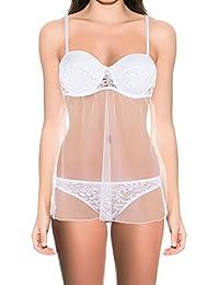 Intimax B1280P, Salto de Cama para Mujer, Blanco (Blanco), 40 (Tamaño del Fabricante:L/XL)