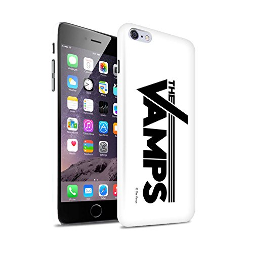 Offiziell The Vamps Hülle / Glanz Snap-On Case für Apple iPhone 6+/Plus 5.5 / Pack 6pcs Muster / The Vamps Graffiti Band Logo Kollektion Weiß/Schwarz