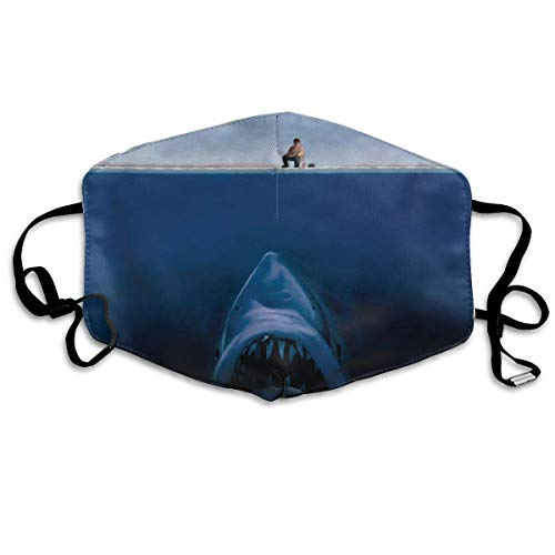 Erwachsene, Face Mask Reusable, Warm Windproof Mouth Mask, Fishermen is Fishing The Shark Reusable Anti Dust Face Mouth Cover Mask Protective Breath Healthy Safety ()
