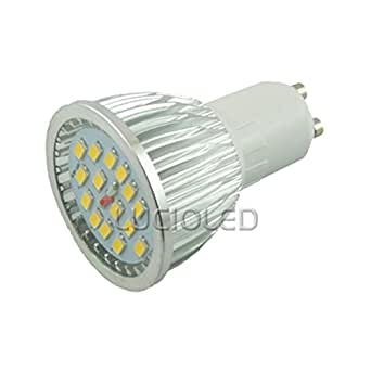 Ampoule led GU10 15 leds SMD 5630 avec protection Lumière du jour
