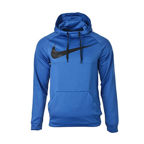 Nike M NK THRMA HOODIE CARBON SWSH - Sweatshirt Blau - M - Herren