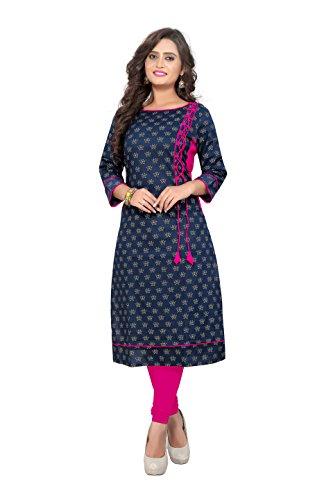 Vaikunth Fabrics Women's Cotton Blue New Style Low Price Party Wear Kurtis/Kurtas...