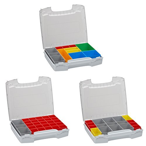 Bosch Sortimo Sparpaket Werkzeugkoffer-Set I-BOXX 72 bestückt mit 3er-Set A3 / H3 / I3