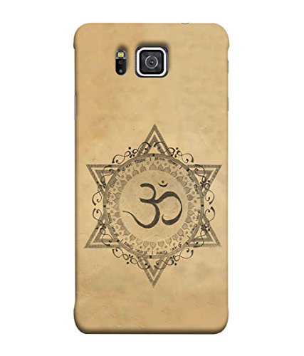 PrintVisa Designer Back Case Cover for Samsung Galaxy Alpha (Om spritual icon Indian religion)  available at amazon for Rs.248