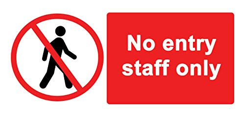 Staff Only//Authorised//Keep Out//Beyond this point No Entry Staff Only Plastic Sign with 4 Pre-Drilled Holes PAR99