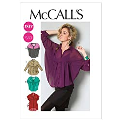 McCall Patterns M6605B50 Misses'/Women's Tops and Tunic Sewing Pattern, Size B5 (8-10-12-14-16)