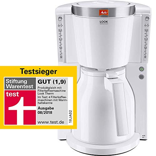 Melitta Kaffeefiltermaschine Look Therm Selection, Aromaselector, Kalkschutz, weiß 101111