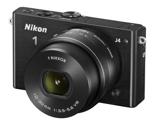Affordable Nikon 1 J4 Compact System Camera with 10-30mm PD-ZOOM Lens Kit – Black (18.4MP) 3.0 inch LCD and Wi-Fi