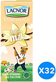Lacnor Vanilla Milk - Pack of 32 Pieces (32 x 180 ml)