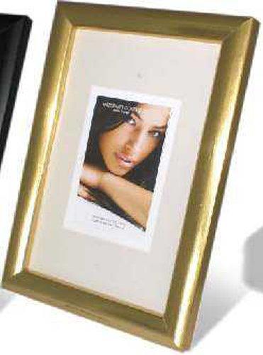 Memorie Elizbeth - Cadre Photo en Bois, légèrement arrondis, 1.3 cm, doré, A3