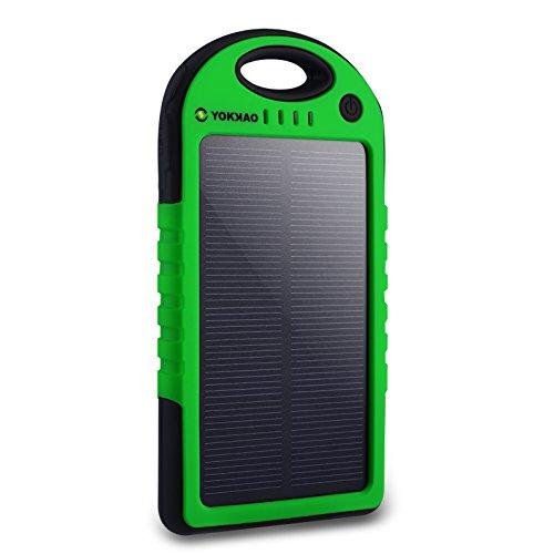 Cargador Solar de 5000mAh Yokkao® Batería Solar Externa portátil 2 USB con...
