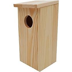 Power-Preise24 Nichoir pour Oiseaux en Bois 22 x 9 x 10 cm - Mangeoire idéal pour mésanges, mésanges charbonnière, Rouges-queues et d'autres Petits Oiseaux