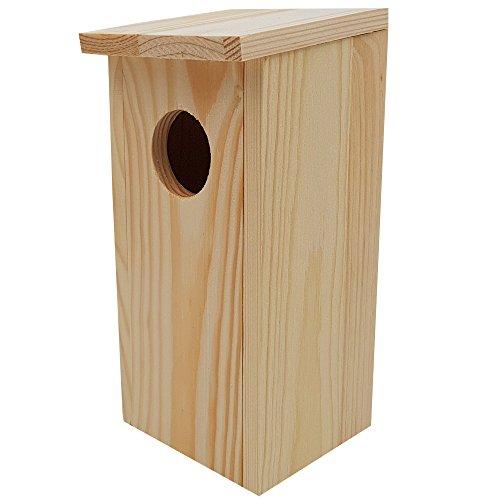 PROHEIM Nistkasten Compact 4er Pack 22 x 9 x 10 cm aus FSC Holz Nisthaus perfekt für Meisen Kohlmeisen Kleiber Rotschwänzchen und weitere Vogelarten Vogelnistkasten - 2
