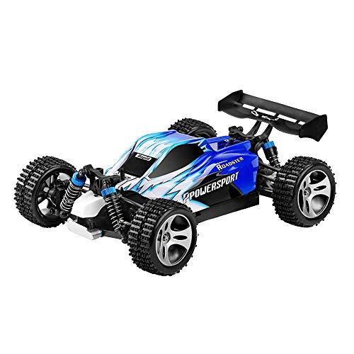 Momola Upgrade A959 RC Auto Buggy Monstertruck 1:18 mit 2,4 GHz 50 km/h schnell, wendig,Toys ferngesteuertes Buggy Racing Auto Geschenk (Blau)