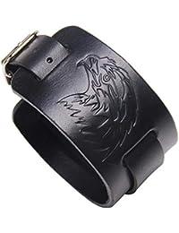 ea25b43d0cb7 qslzp Pulseras Pulsera Pulsera de Cuero Ancha de la aleación de la  Personalidad de la joyería