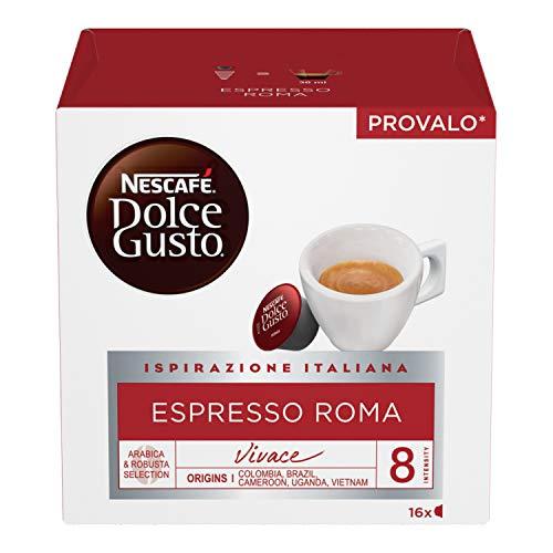 NESCAFÉ Dolce Gusto Espresso Roma Caffè Espresso, 6 Confezioni da 16 Capsule (96 Capsule)