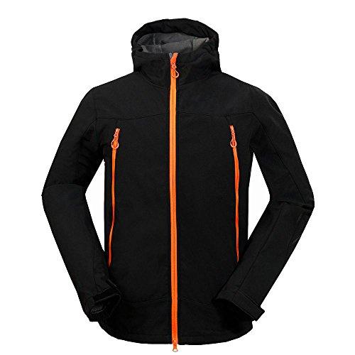 MOUNT CONQUER Homme Coupe-Vent Imperméable Softshell Doublé Polaire Manteau Outdoor Sport Veste de Camping Randonnée Escalade