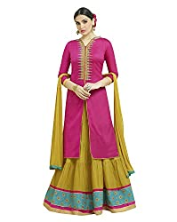 Viva N Diva Cotton Lehenga Choli (26286_Magenta Pink_Free Size)
