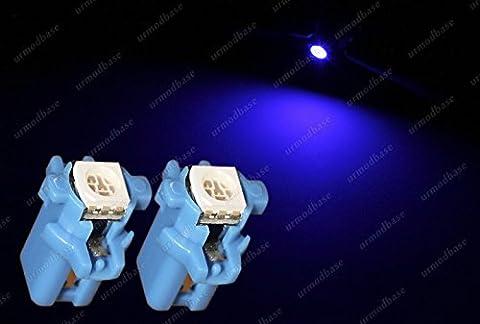 2x B8.3D Twist Lock 1 LED SMD Blue Dashboard Cluster