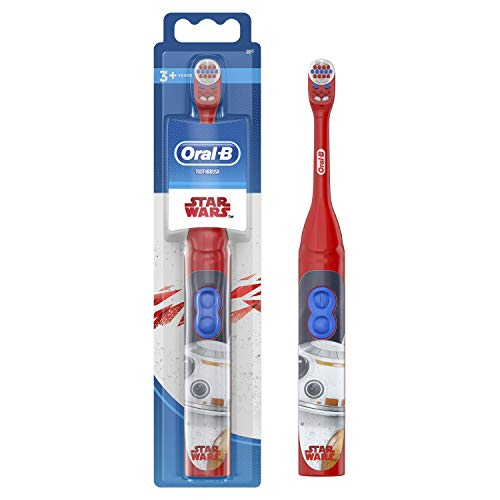 Oral-B Battery Toothbrush Featuring Star Wars Characters for Kids, Battery Toothbrush Handle with 1 Toothbrush Head, as of 3 Years Old