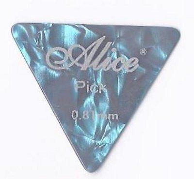 Confezione da 12 x Grande Triangolo Celluloide Plettri | Alice AP600L | per Acustica Elettrica Basso | 0.81mm