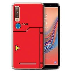 eSwish Gel TPU Hülle/Case für Samsung Galaxy A7 2018/A750 / Rot Muster/Anime Cartoon Kodex Kollektion