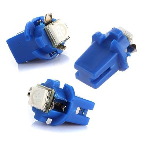 10x AMPOULE LED SMD COMPTEUR TABLEAU DE BORD B8-5D T5 avec support BLEU TUNING