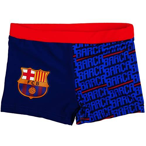 alles-meine.de GmbH Badehose / Badeshorts - Fußball - FC Barcelona - FCB - Größe 8 bis 9 Jahre - Gr. 134 bis 140 - für Jungen Kinder Badepants - Boxershorts Shorts mit Bein - Pan..
